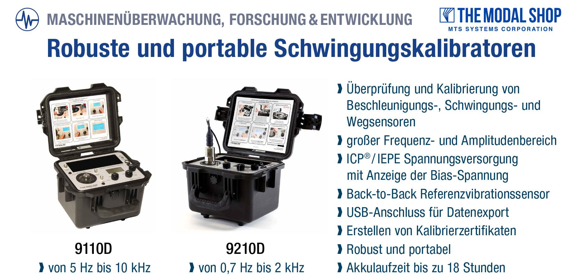 The Modal Shop - Robuste und portable Schwingungskalibratoren