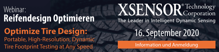 Gratis Webinar von XSensor® - Reifendesign