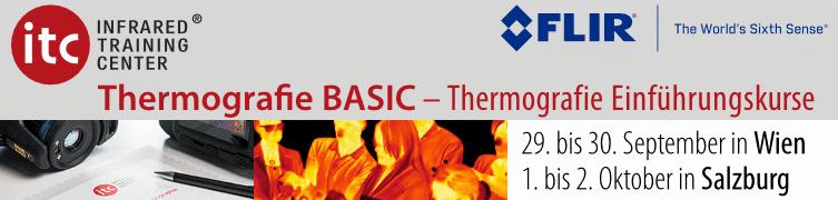 Basiskurse Thermografie/Infrarottechnik in Wien und Salzburg
