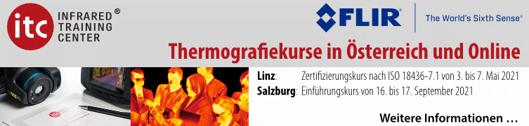 Thermografie/Infrarottechnik Einführungskurse
